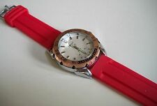 Men's SPORT Silver/Rose Gold/Red  Silicon Band Fashion Casual Wear Watch