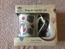 The Leonardo Collection Mug & Coaster Set Fine China - New & Boxed