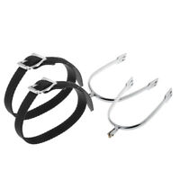 Mens Horse Riding Western Show Spur with Spur Straps Equestrian Equipment