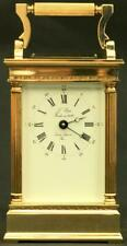 L'EPEE FRENCH VINTAGE 8 DAY CORINTHIAN PILLAR CARRIAGE CLOCK