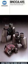 1980s MINOLTA BINOCULARS BROCHURE -STANDARD-COMPACT-POCKET-MARINE BINOCULARS