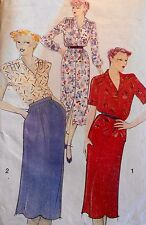 VINTAGE 'NEW LOOK' SHIRT DRESS/TOP/SKIRT SEWING PATTERN 6144 SIZES 10-16