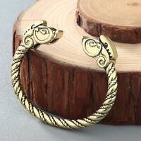 Viking Bracelets Male Pagan Jewelry Dragon Wristband Cuff Bangles for Men Women