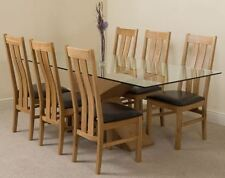 Oak Fixed Piece Table & Chair Sets 6