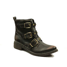 WOMENS CASUAL BUCKLE BLOCK HEEL ANKLE COWBOY BOOTS LADIES SHOES NEW SIZE 3-8