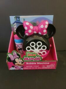 Minnie Mouse Bubble Machine With Bubbles Disney Junior New SHIPS FAST
