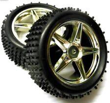 Neumáticos, llantas y bujes de color principal plata para vehículos de radiocontrol 1:10