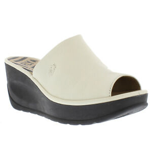 Womens Fly London Jamb Mousse Summer Leather Wedge Heel Peep Toe Sandals US 5-11