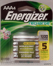 Energizer AAA 4-pk Recharge 1000 cycle Rechargeable Batteries 1.2v 700mAh UNH12B