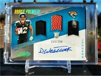Dede Westbrook 2017 Panini Absolute Rookie Premier 3 Patch Auto /299 Jaguars