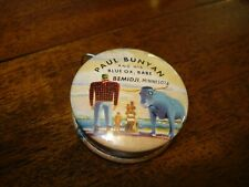 ANTIQUE PAUL BUNYAN & his  BLUE OX BABE TAPE MEASURE Minnesota  HARD TO FIND !!!