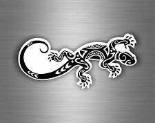 Sticker autocollant voiture moto motard drôle gecko salamandre lézard reptile tuning tribal