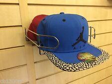 Chrome Slatwall Wire Hat Baseball Cap Hats Store Display Shop Retail Fashion New