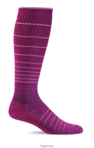 Sockwell  Women's Circulator Moderate Graduated Compression Socks M/L VIOLET NWT