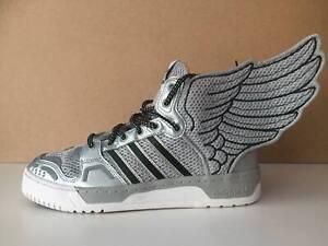 Adidas Jeremy Scott Wings 2.0 NASA JS Obyo Sneakers Silver G61109 UK 8