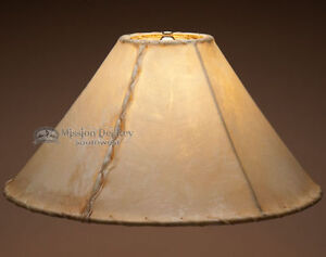 "Southwestern Rawhide Lamp Shade 18"""