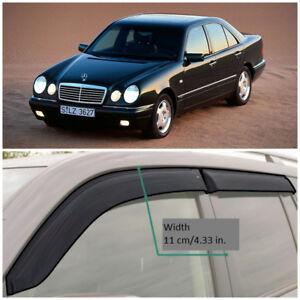 ME31095 Window Visors Vent Wide Deflectors For Mercedes-Benz E W210 1995-2002
