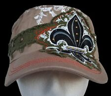 Rugged Summer Hat Fleur De Lys Embroidered Cool Ball Hats Casquette Chapeau