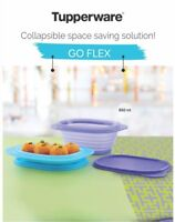 Tupperware GO FLEX Plastic 850 ML Collapsible Rectangular Container 1 Piece NEW!