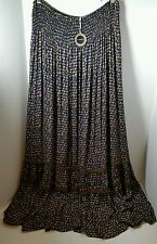 NWT HAZEL L 12 14 65% Off Clearance Sale Long Skirt Stretch Abstract Flower