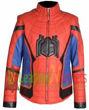 LNJ New Spider-Man Homecoming Movie Leather Jacket With Free Shipping.