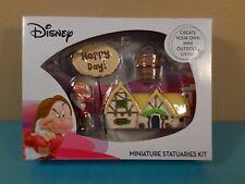 Disney 7 Dwarfs Grumpy Garden Miniature Statuaries Kit 4 Pc New In Box