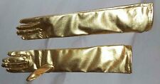 Gold Lame Elbow Length Gloves All Occasions Burlesque Halloween Costumes Unisex