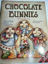 Chocolate Bunnies Decorative Tole Painting Acrylic Book by Helen Nicholson