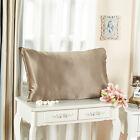 Silk Pillowcase Cotton Underside Pillow Cover 100% Mulberry 4 Colors 20X30