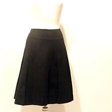 MARNI | Black Linen Pleated Skirt w/ Exposed Zipper – Size IT40/ US 4