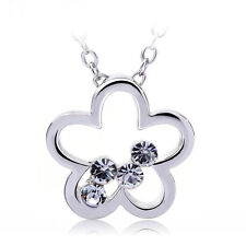PURE BY COPPERCRAFT SWAROVSKI DIAMANTE FLOWER PENDANT NECKLACE  - PERFECT GIFT