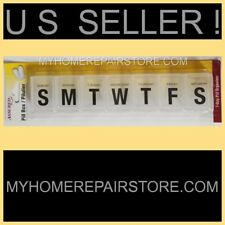 US SELLER!—LARGE CLEAR—7 DAY—WEEKLY—PILL ORGANIZER—TRAY—MEDICINE BOX—TRAVEL CASE