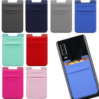 Adhesive Pocket Stick On Credit Wallet Cards Holder Pouch Case For Cell Phone