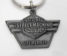 New Collectors National Street Machine Club Life Member Emblem Key Chain
