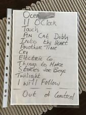 U-2,rare early set list copy,Manchester poly 27/1/81,rare u-2 collectors item!!!