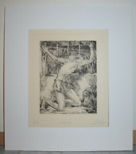 Listed German Artist JOHANN VINCENZ CISSARZ, Signed Original Etching 1922