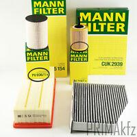 Filtro Mann Conjunto de Kit para Inspección Audi A3 8p Seat Leon II Skoda