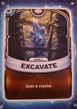 Skylanders Battlecast Collector's Card Spell Excavate