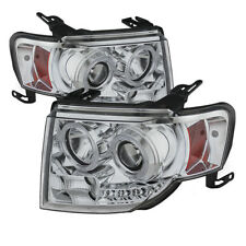 Ford 08-12 Escape Chrome Dual Halo LED Projector Headlights Lamp 2WD 4WD HYBIRD
