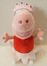 "TY Ballerina Peppa Pink Pig Soft Stuffed Plush 9"" Tall 2016"