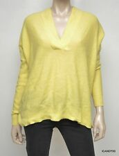 Nwt $398 Ralph Lauren Blue Label Cashmere Oversized Sweater Pullover Yellow S