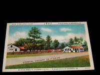 Vintage Postcard,BRUNSWICK,GEORGIA,GA,New England Camp Cabins,To White Plains,NY