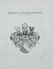 1847 Wappen von Stillfried-Rattonitz 1662 Kupferstich Tyroff