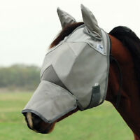 CASHEL FLY MASK for DRAFT HORSE WITH COVERS EARS and LONG NOSE Sun Protection