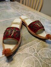 Turkish antique Genie Slippers Size 7.5 8 eu 40 vintage movie play Rare Red