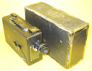 "CINE ""KODAK"" Model BB Junior - 16mm movie camera with Box and Lens Shade"