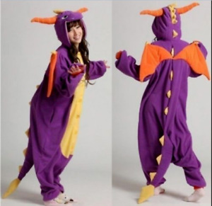 Dragon Unisex Adult Animal Pajamas Cosplay Fancy Costume Sleepwear Jumpsuit H1