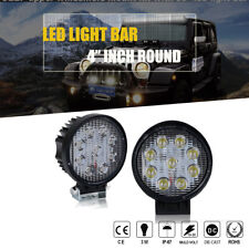 2PCS 27W LED FLOOD Work Light Lamp Tractor Boat  SUV ATV Offroad Canbin Round
