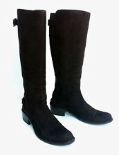 Botas altas en ante marron.  High boot in brown suede size 37 made in Italy