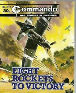 EIGHT ROCKETS TO VICTORY,COMMANDO WAR STORIES IN PICTURES,NO.2219,WAR COMIC,1988